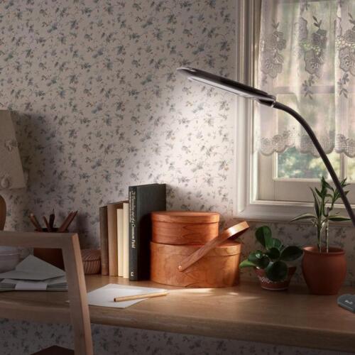 USB Bedside Clip-on Table Desk Lamp 24 LED Flexible Dimmer P