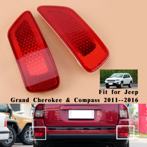 Left Rear Bumper Reflector For 2011-2016 Jeep Grand Cherokee Compass