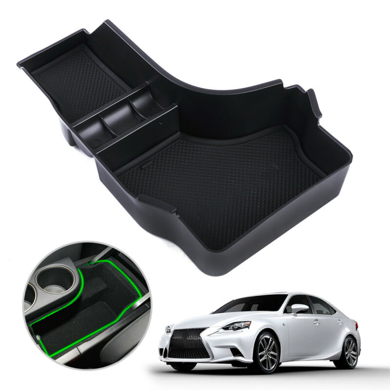 Armrest Storage Bin Box Tray Console Container Fit for Lexus IS200t 2014-2016