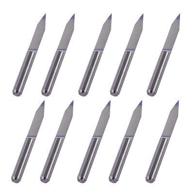 10pcs V-shape Tungsten Steel Pcb Engraving Bit Cnc Router Tool 30 Degree 0.1mm