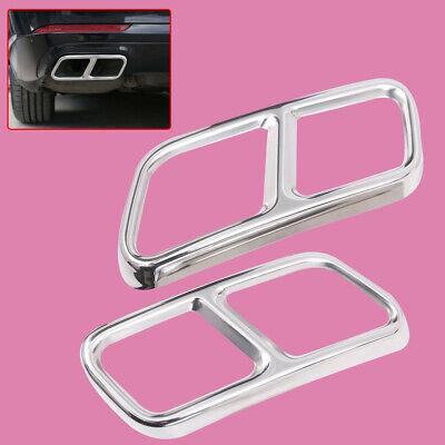 2x Edelstahl Auspuff Blende Abdeckung fit für Benz S R GL Klasse W222 W251 X166