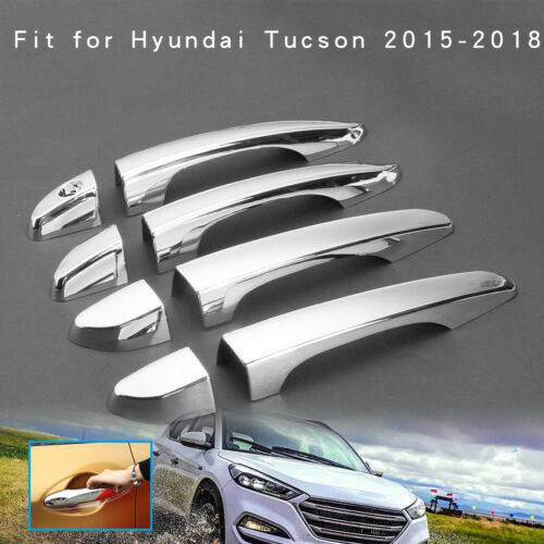 Chrome Exterior Car Door Handle Cover Trim For HYUNDAI TUCSON TL 2015 2016-2018