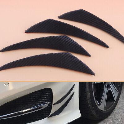 4x Frontstoßstange Auto Stoßstange Flaps Splitter Fins Spoiler Flügel Canards tp