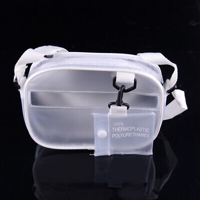 Damen PVC klar transparent Umhängetasche Tote Jelly Summer Candy Beach Hand Bag