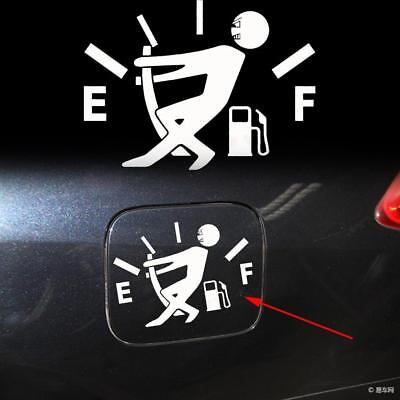 Limited Parts - White Funny Pull Fuel Tank Pointer To Full Hellaflush Vinyl Car Sticker Decal