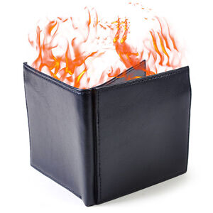 Magic Trick Fire Flash Burst to Flame Black Wallet (no lighter fluid included)