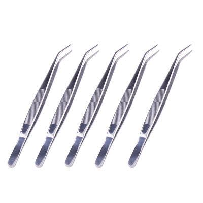 Dental Cotton Dressing Plier Tweezers Self Locking 5 Pcs Stainless Steel