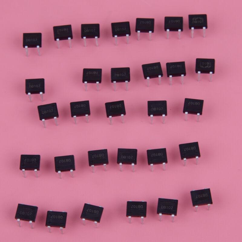 50pcs DB107 DB107G DIP-4 1A 1000V Single Phases Diode Rectifier Bridge Low-power