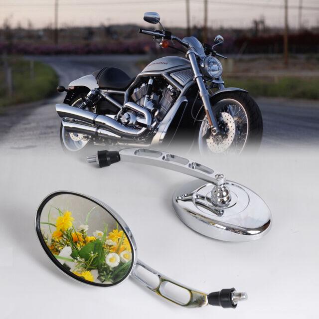 10mm Motorcycle Chrome Rearview Mirrors For Honda Kawasaki Suzuki Yamaha Harley