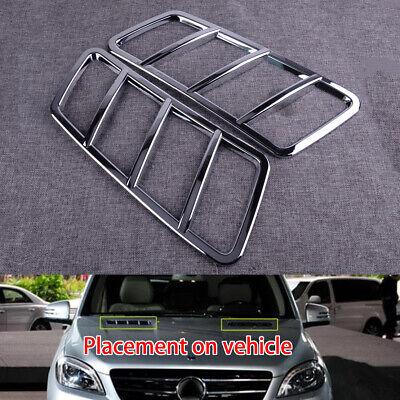 2x Vorne Motorhauben Belüftungsöffnungs Abdeckungs für Mercedes-Benz ML GL GLE