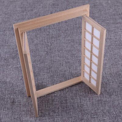 1/12 Doble Puertas de madera Casa de muñecas Panel 28 Miniatura Exterior