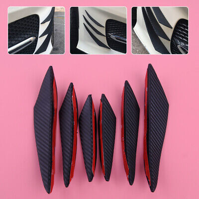 6stk Frontstoßstange Stoßstange Flaps Lip Splitter Body Spoiler Fin Canards tp