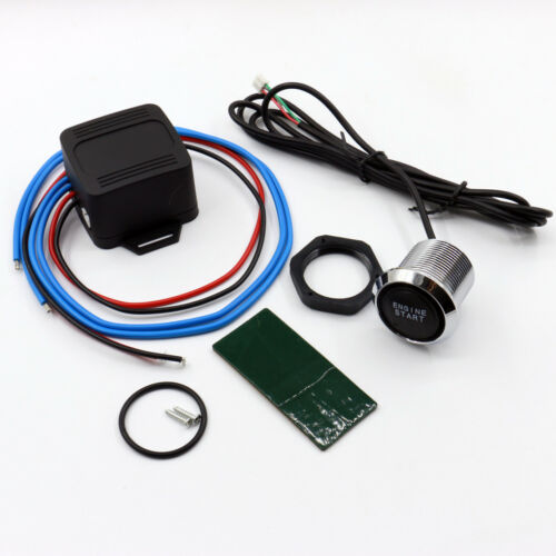 New 12V DIY Car Blue LED Engine Start Push Button Switch