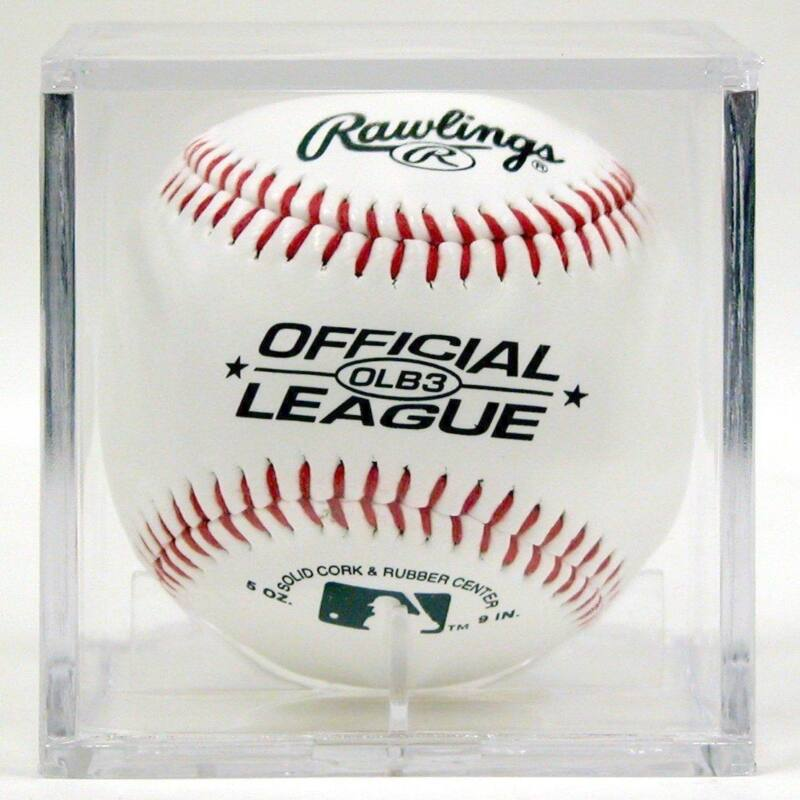 12 BASEBALL CUBES BALL SQUARE DISPLAY CUBE CASE SQUARES
