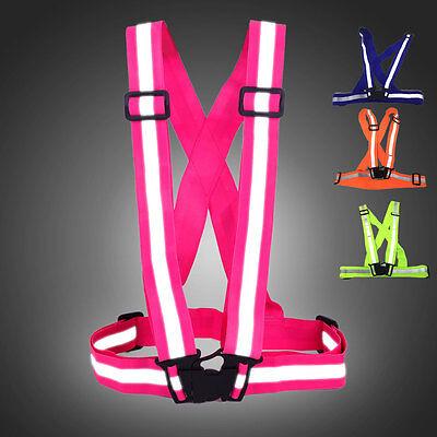 Adjustable Security Vest Reflective Gear Stripe Safe Belt Outdoor Night Working