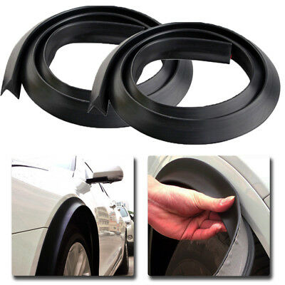 4pcs 1.5m Black Car Wheel Fender Extension Moulding Flares Trim Strip Edge SUV for sale  Shipping to Canada