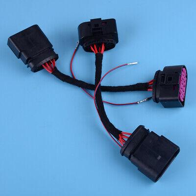 2x Retrofit Halogen Bi Xenon Headlight Adapter Cable Loom Fit For Audi A3 14-19