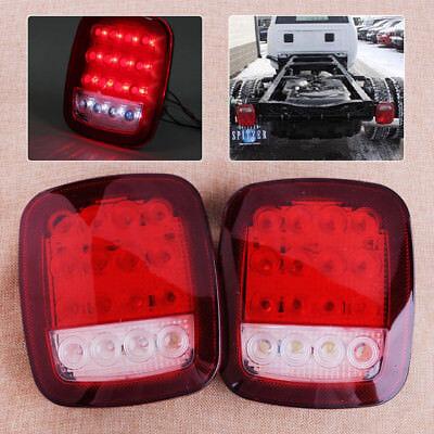 Paar LED LKW Rückleuchten Bremsleuchte Heckleuchten Anhänger Rücklicht Licht