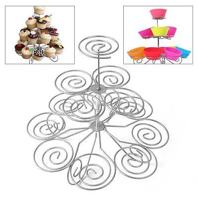 3 Tier Cupcake Stand Metal Holder Tower ...