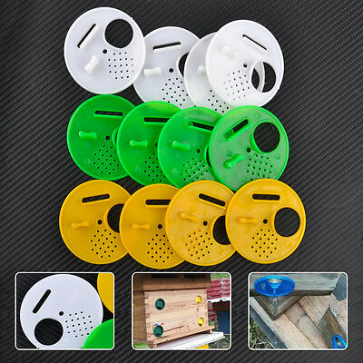 12x Useful Plastic Beekeeping Bee Nuc Box Hive Entrance Gate Equipment Tool Kits