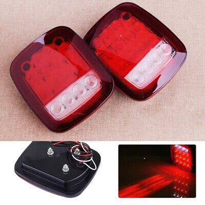 Paar LED LKW Rückleuchten Bremsleuchte Heckleuchten Anhänger Rücklicht Licht ly
