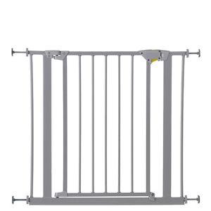 NEW HAUCK SILVER TRIGGER LOCK METAL PRESSURE FIX SAFETY STAIR GATE 75 CM - 81 CM