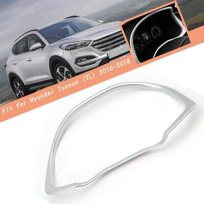 Chrome Instrument Gauge Panel Cover Trim Bezel Garnish For Hyundai Tucson 16-18