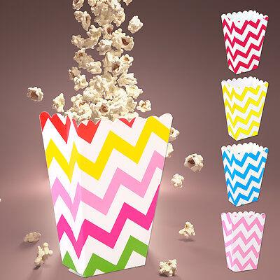 Neu 36 Stk Gestreifte Popcorn Box Zucker Snack Popcorn Tasche Papierkasten Party