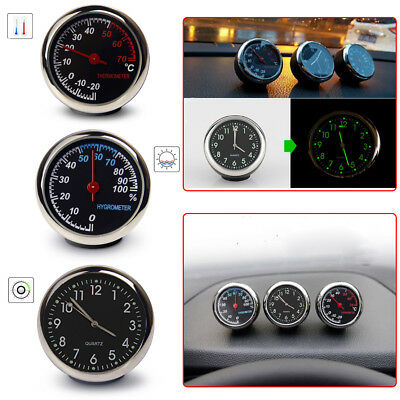 Car Dashboard luminous Quartz Digital Clock Thermometer Hygrometer Ornament
