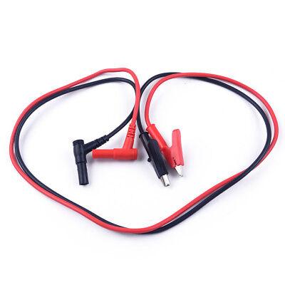 2pcs Multimeter Banana Plug To Alligator Clip Test Hook Probe Cables