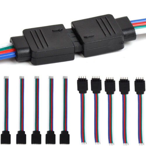 10pc 4Pin Male Female Connector Wire Cable for 3528 5050 SMD LED Strip Light Hot