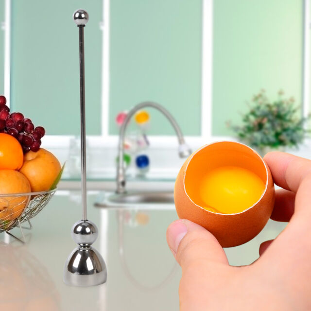Boiled Raw Egg Topper Shell Cutter Opener Stainless Steel Kitchen Tool