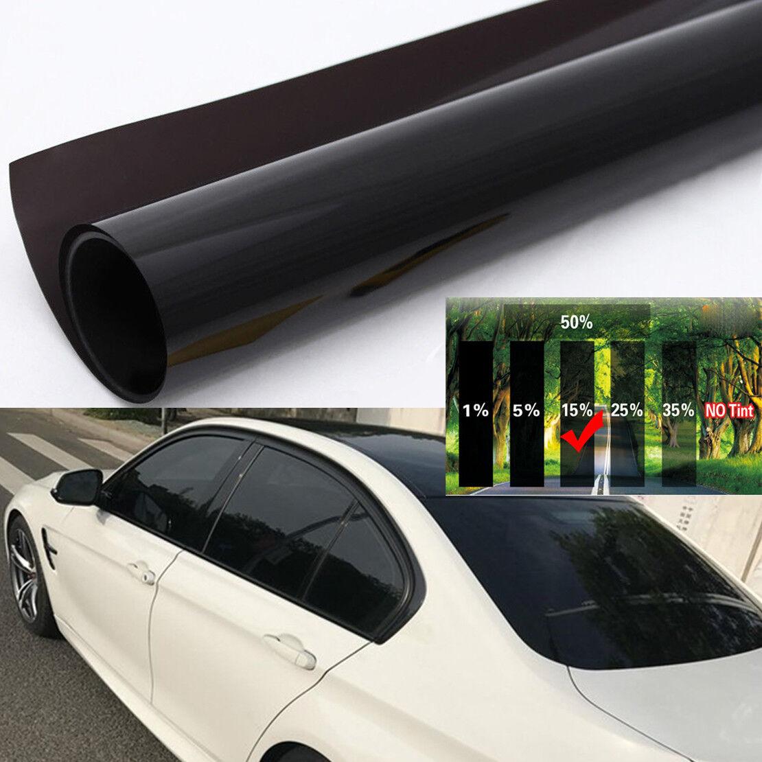 Car Window Tint Film Universal Glass Vinyl Block UV Rays Sun Glare Black 50cmx3m