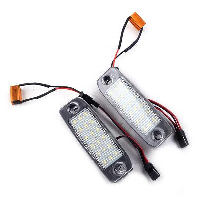 2x For Kia Rio MK2 Bright Xenon White Superlux LED Number Plate Light Bulbs