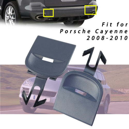1Pair New Rear Bumper Towing Hook Cover Eye Cap for Porsche Cayenne 2008-2010
