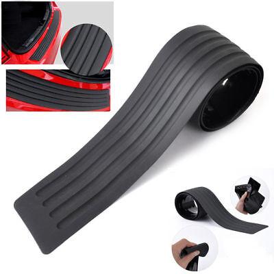 Black Universal Car Rear Bumper SillProtector Plate Rubber Cover Guard Trim Pad
