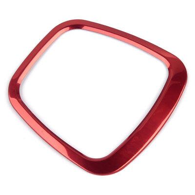 Red Car Steering Wheel Sticker Aluminum Body Emblem For Audi Q3 Q5 A3 A4L A6L