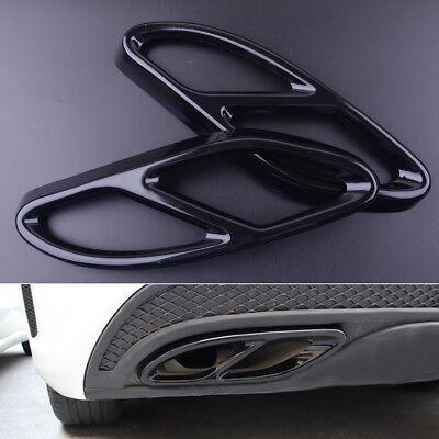 2 Auspuff Passen für Mercedes Benz GLC A W176 W246 Abdeckblende Edelstahl