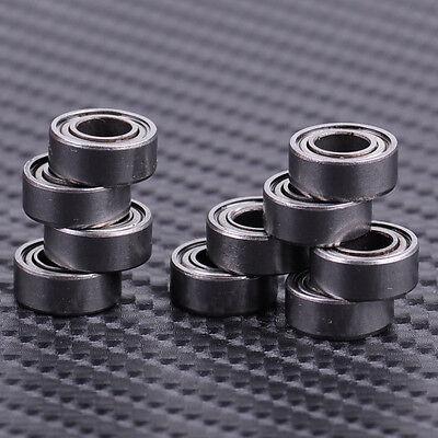 10pcs 5x10x4mm Mr105zz Mr105 Silver Miniature Groove Shielded Mini Ball Bearing