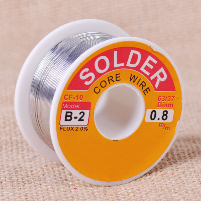 63/37 0.8mm 2% Tin Lead Rosin Core Solder Flux Soldering Welding Iron Wire Cable