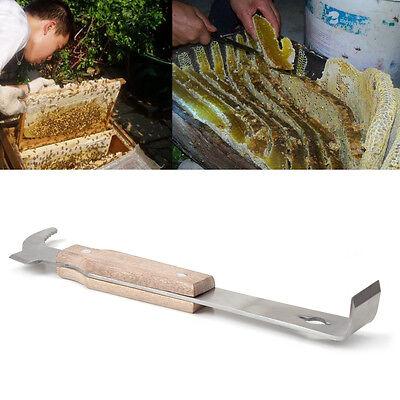Wooden Handle Stainless Steel Bee Hive Scraper Beekeeping Tool Equipment