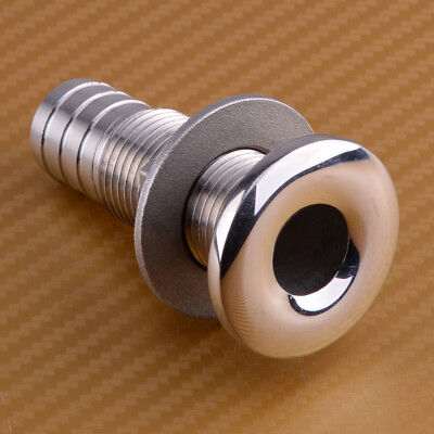 Stainless Steel 1/2'' Boat Thru Hull Drain Pipe Marine Yacht Fitting Hose Barb for sale  Shipping to Canada