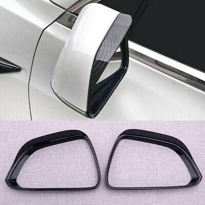 Door Side Rearview Wing Mirror Visors Shade Rain Guard Fit For Tesla Model 3 17+