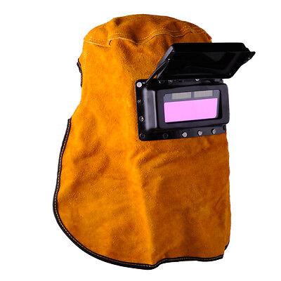 Portable Leather Hood Welding Solar Auto Darkening Filter Lens Welder Mask