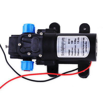 Mini Micro Diaphragm Water Pump Automatic Switch Self Priming Rf Dc12v 15w Motor