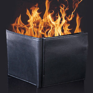 Magic Trick Flame Fire Wallet Leather Magician Stage Inconceivable Show 100% New