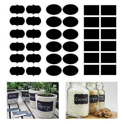 36X 3 Shape Chalkboard Blackboard Chalk Board Stickers Decals Jar Labels Craft