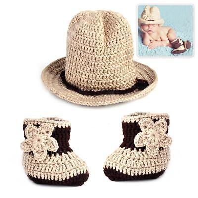 Baby Cool Cowboy Hut Jungen Kostüm Gestrickt Mütze Fotoshooting - Cool Baby Kostüm