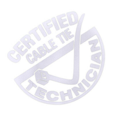 CERTIFIED CABLE TIE Bumper Sticker Auto Tattoo Technician Rear Windshield Decor - Lacrosse Tattoos