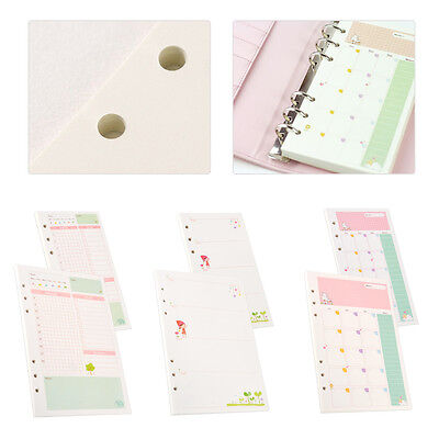 45 Sheets A5a6 Daily Colourful Planner Diary Insert Refill Schedule Organiser